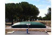 Installation de citerne souple pour la protection incendie et le stockage de l'eau communale