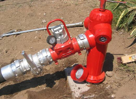 controle debit et pression hydrants
